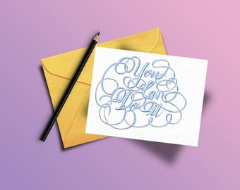 You Can Do It (Custom Calligraphy Card)