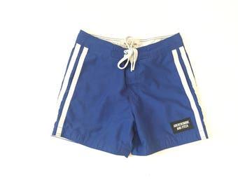 Vintage Royal Blue Swim Trunks