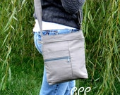 Casual Crossbody-Top Draw Concealed Carry Purse in solid Gray