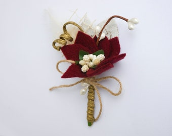 Rustic boutonniere, Marsala boutonniere, Boutineer, Bordeaux, Buttonhole for groom, groomsmen, burgundy boutonniere, Men Boutonnieres