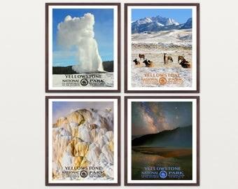 Yellowstone National Park Poster - Yellowstone Art - WPA Poster - WPA Art - WPA - National Park Poster - Yellowstone Wall Art - Geyser