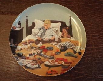 Bing & Grondahl By Kurt Ard En Kedelig Snue Bored Sick, Children, Doctors,  Collector Plate, Vintage Plates, Plate Gift under 10 Mad kid