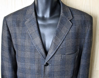 Ivy Style Braveheart Plaid Tweed Sport Jacket/ Men's Vintage Tweed Blazer/ 3 Button Jacket/ Men's Size 42