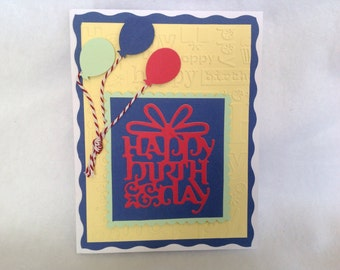 Handmade Greeting Card, Birthday Card