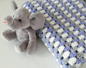 Handmade heirloom crochet baby blanket - Custom colours - new baby gift - Granny Stripe Baby Blanket - Cot Pram Swaddle  MADE TO ORDER
