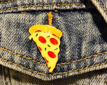 Pizza enamel pin