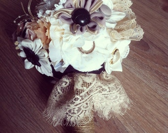 Rose bouquet shabby chic & romantic-rock-black ivory
