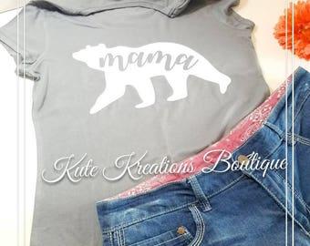 Mama Bear T-Shirt,Mama Bear Shirt,Mama Bear.