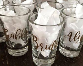 Custom Shot Glasses - Set of 6