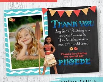 Moana Photo Thank you. Moana Birthday Thank you.The Ocean is calling you. Moana Thanks .Moana Printable Thank you.Moana Party Printables.
