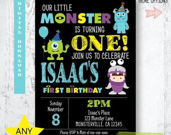 Monster Birthday Invitation. Little Monster Invitation. Monsters Inc Invitation. Monster Party Printables. Monsters Inc Party Printables.