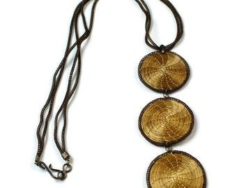 Boho Mandalas Necklace, Long Boho Circles Necklace, Baroque Necklace, Baroque Jewelry, Handmade Necklace, Circles Necklace, Hoops Necklace