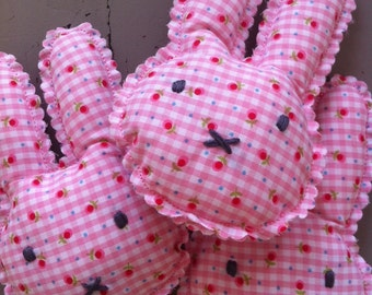 Easter bunny pillow with a hint of lavender