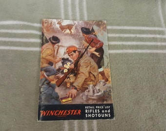 Vintage 1958 Winchester Rifles and Shotguns Retail Price List
