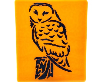 Owl on Pumpkin Fused Glass Night Light; Great Gift for Owl Lover or for your Home