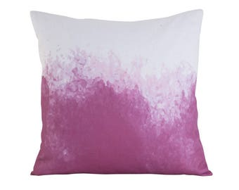 Pink and white Scandinavian cushion cover 45cm x 45cm