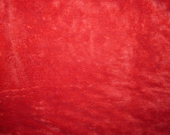 Fabric - Deep pile plush cuddle fleece - red