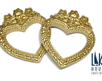 mini golden heart shape frames small golden heart frames small ornate gold frames small fancy gold frames
