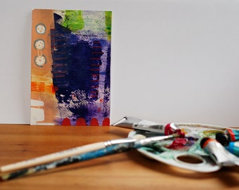 abstract handpainted artwork with acrylic paint, as a present or for yourself