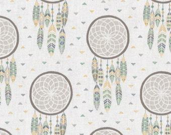 Dreamcatchers - Ecru 172-1 by Lewis & Irene Fabrics Cotton Fabric Yardage