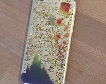 iPhone Floating Lantern Festival Case - Gold Foil Flakes