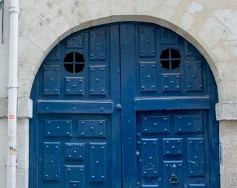 Paris Photography, Paris Print, Paris Decor, Iconic Parisian blue doors