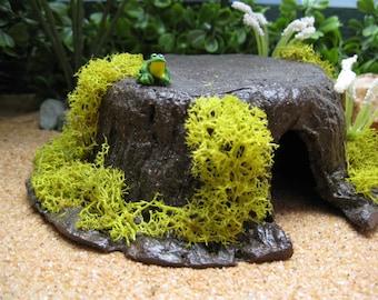 Fairy Garden Tree Stump miniature toad abode house cottage door