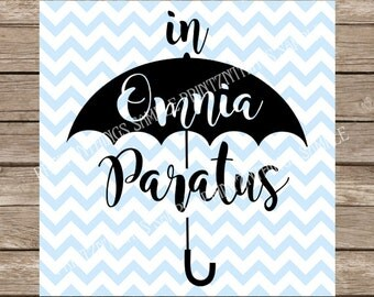 Gilmore Girls svg, Gilmore Girls, In Omnia Paratus, Omnia Paratus svg, Rory Gilmore, Lorelai Gilmore, Gilmore, Ready for Anything, dxf cut