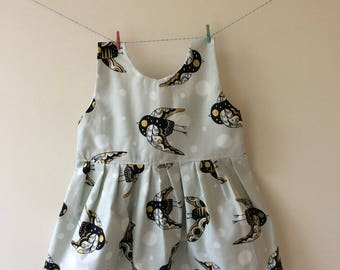 Owl dress, owl print, owl gift, owl clothes, metallic print, metallic gift, baby dress, toddler dress, party dress, baby girl, new baby gift