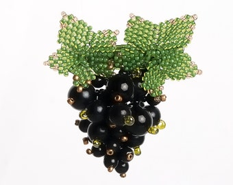Brooch Bunch of black currant