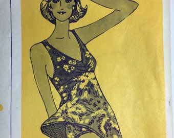 Vintage Stretch & Sew Sun and Swimsuit Pattern 1327 Sizes Bust 30 to 42 uncut