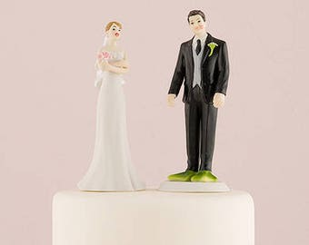 Almost Perfect . . . Frog Prince Bride and Groom Wedding Cake Topper - Choose your hair color  8657