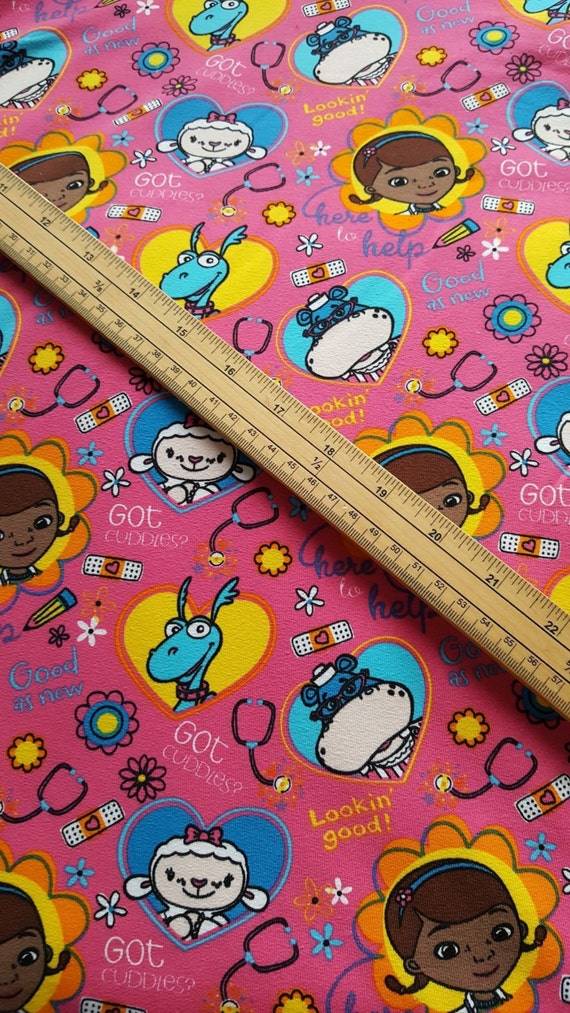 Doc McStuffins French Terry fabric