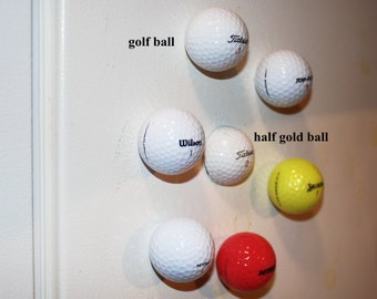 Real Handcrafted Golf Ball Refrigerator Magnets