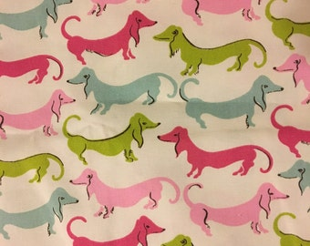 Waverly Hot Dogs Flamingo Dachshund Fabric