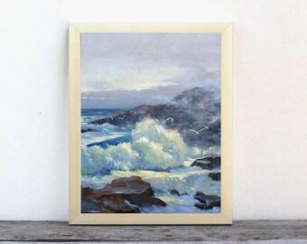 Art prints, prints, oil painting, wall art, ocean prints, giclee prints, beach painting, beach print, sailboat painting, Barbara Applegate