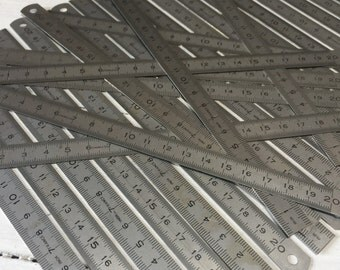 20cm French Vintage Measure, Ruler in 1mm and 1/2mm Increments