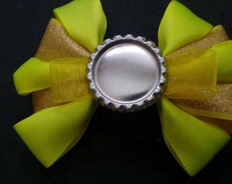 Yellow Themed, Bottle Cap Hair Bow