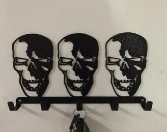 key holder, skulls, gift, home and living , gothic, , home decor, METAL ART