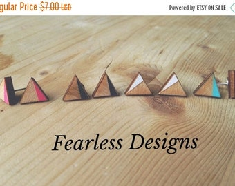 HALF OFF Colorful Triangle Earring Studs