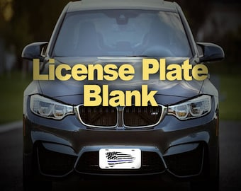 "5- License Plate Blank - Black/White 6""x12"""