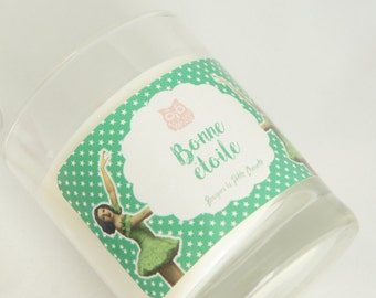 """Valley, """"Lucky star"""" scented soy wax candle"""