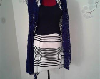 Petite Nantucket Striped Pencil Skirt