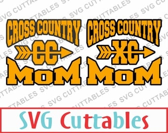 Cross Country Mom SVG, DXF, EPS, Cross Country Vector, Digital Cut File