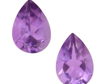 Pink Amethyst Pear Cut Loose Gemstones Set of 2 1A Quality 10x7mm TGW 3.05 cts.