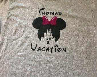Custom Mickey/Minnie Castle Shirt
