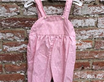 Vintage cotton salopette, garden pants, dungarees