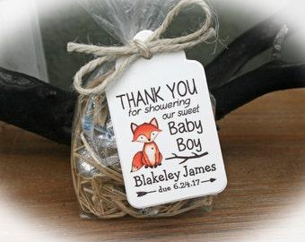 Fox Baby Shower Favor, Woodlands Baby Shower Favor Kit, Baby Shower Favor Kit, Boy Baby Shower, Fox Baby shower,Woodland Baby Shower FTfoxc3