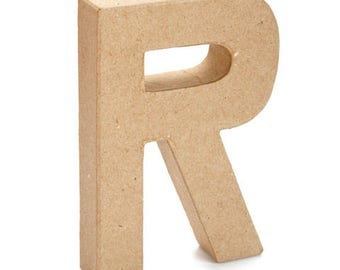 Paper Mache Letter -R- 6 inches,Cardboard Letter,Craft Project