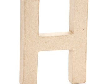Paper Mache Letter -H- 6 inches,Cardboard Letter,Craft Project,Alphabet